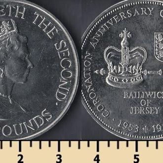 Джерси остров 2 фунта 1993