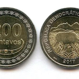 Timor / Тимор - 200 Centavos 2017 UNC