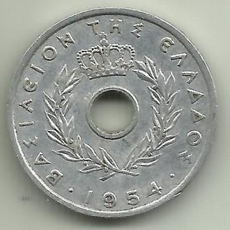 Греция Павел I 10 лепт 1954 UNC