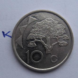 НАМИБИЯ, 10 центов 1993 года.