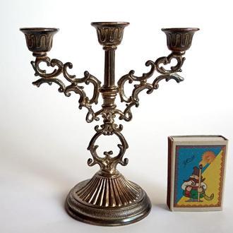 Антикварный подсвечник на три свечи, Germany