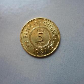Гайана 5 центов 1991