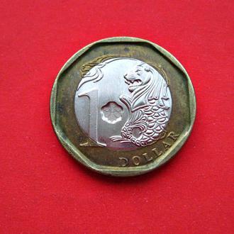 Один доллар Сингапура 2013 год. ЛЕВ.