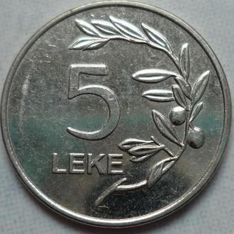 Албания 5 леков 2014