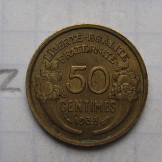 Франция, 50 сантимов 1938 года.