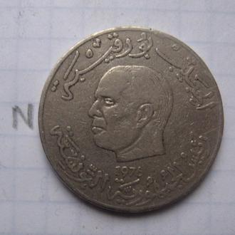 ТУНИС. 1 динар 1976 года (ПОРТРЕТ ПРЕЗИДЕНТА ТУНИСА).