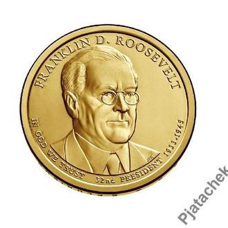 США  1 доллар 2014 г Франклин Рузвельт 32-й президент