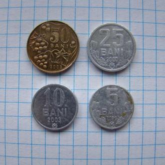 50, 25, 10, 5 бани, Молдова (см.описание).