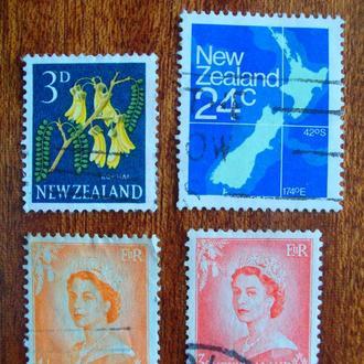 Новая Зеландия.1953/82гг. Стандартные марки. Подборка.