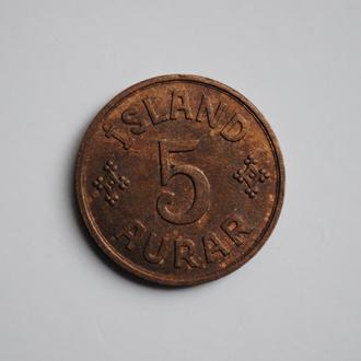 Исландия 5 эйре 1940 г., UNC, 'Королевство (1922-1943)'