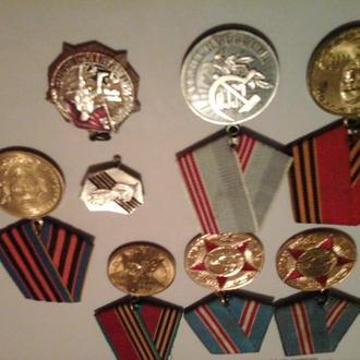 Медали 25 лет колодка отдельно,40 лет ВОВ, Георгий Жуков,50 лет Вооруженных сил х 2 шт,