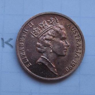 АВСТРАЛИЯ, 1 цент 1990 года.