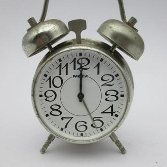 Будильник часы СССР Ракета