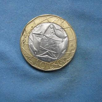 Италия 1000 лир 1997 год