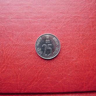 Индия 25 пайса 1989