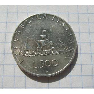ПАРУСНИК = 500 ЛІР 1961 = ІТАЛІЯ = ДОРОЖЧА ПО КАТАЛОГУ