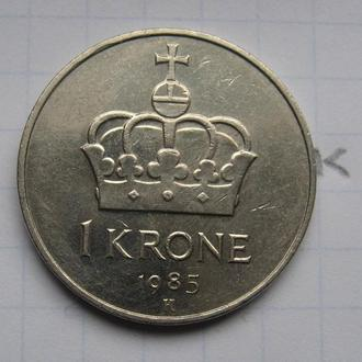 НОРВЕГИЯ, 1 крона 1985 года.