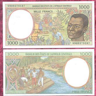 Боны Африка КФА ЦАР 1000 франков 1999 г.