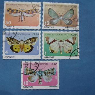 Куба Фауна Бабочки 1979 год