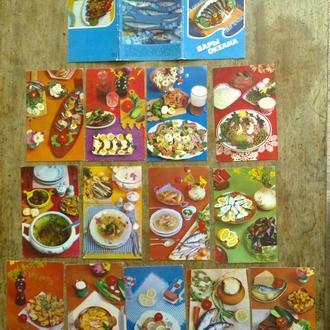 Набор открыток Дары океана   (12 из 15) 1980г.