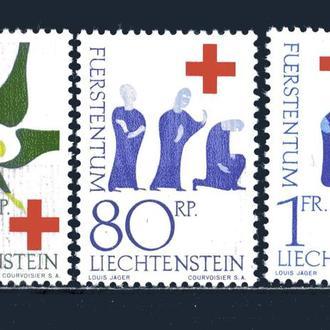 Лихтенштейн. Красный крест (серия)** 1963 г.