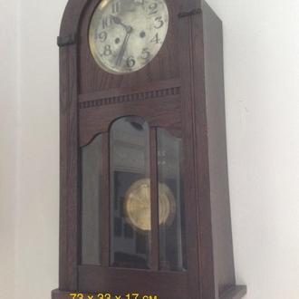 Часы антикварные настенные Saxonia, швейцарияХIXв.