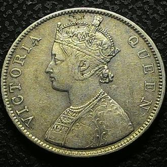 Британская Индия 1 рупия 1862 год СЕРЕБРО!!! СОСТОЯНИЕ!! НЕ ЧАСТАЯ!!