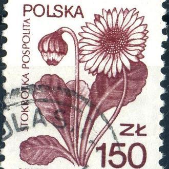 Польша. Цветы №1  (серия) 1989 г.