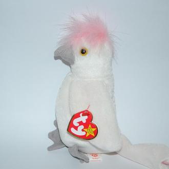 новая мягкая игрушка с наполнителем попугай ty beanie original baby kuk 1998 оригинал на подарок