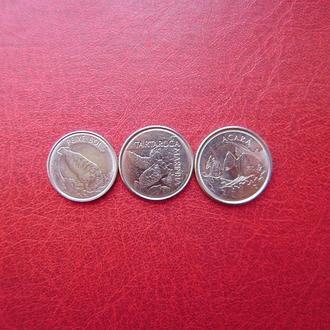 Бразилия набор монет 100, 200, 500 крузейрос 1992 - 1993 UNC