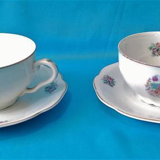 Чайная пара. Чашка. тарелка. Made in Czechoslovakia