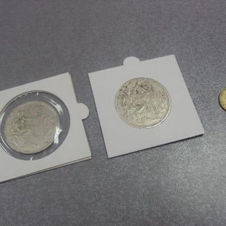чехословакия 10 крон 1932 серебро лот 2 шт №368