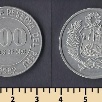 Перу 100 соль 1982