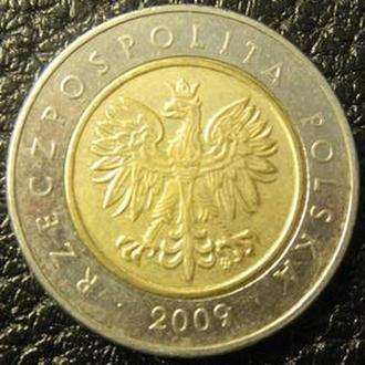 5 злотих 2009 Польща