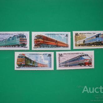 СССР 1982 Отечественные локомотивы MNH