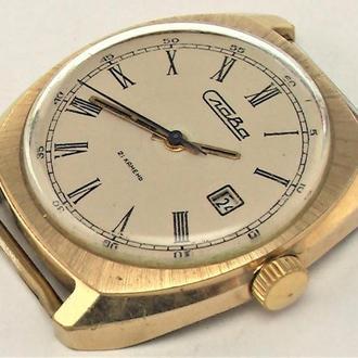 Часы Слава СССР позолота Au 5 рабочие как новые