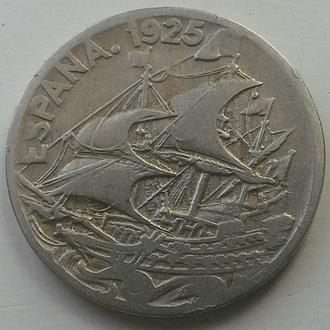 Испания 25 сантимо 1925