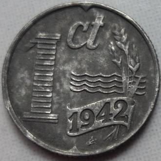 Нидерланды 1 цент 1942