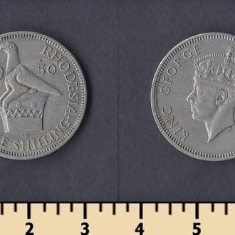 Южная Родезия 1 шиллинг 1950