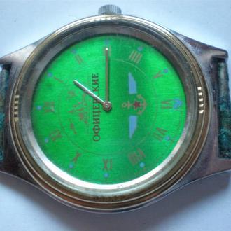 часы Чайка офицерские интересная модель сохран 0404