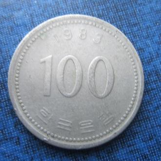 монета 100 вона Корея 1983