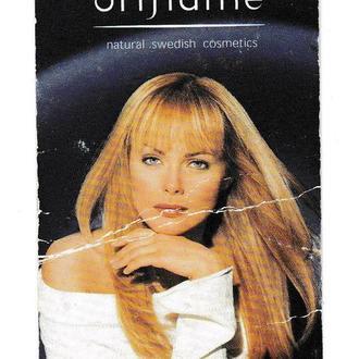Календарик 2001 Реклама, девушка, Oriflame