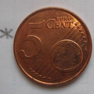 НИДЕРЛАНДЫ, 5 евроцентов 2009 года.
