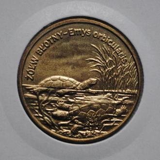Польша 2 злотых 2002 г., 'Болотная черепаха'