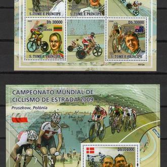 2009 Спорт Велогонка Мира Велотрек Транспорт Велосипеды МЛ+Блок MNH **