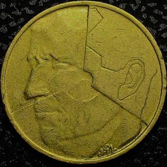 Бельгия 5 франков 1987  год