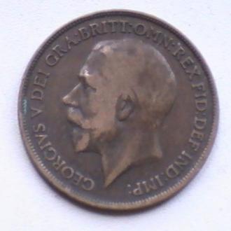 1 Пенни 1917 г Великобритания 1 Пенні 1917 р Великобританія