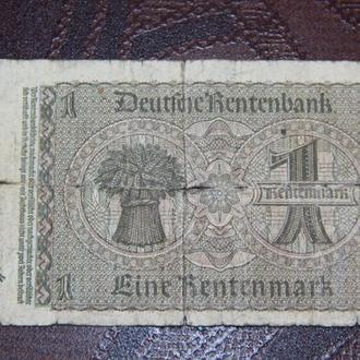 ГЕРМАНИЯ 1 рентмарка 1937