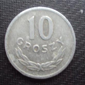 Польша 10 грошей. 1966г.