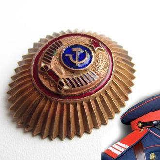 МВД СССР кокарда фуражки милиция образец 1947 года.